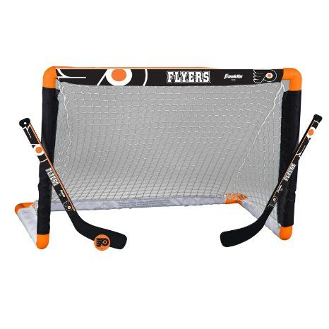 Amazon Com Nhl Philadelphia Flyers Mini Hockey Set Sports Outdoors Hockey Goal Franklin Sports Nhl Chicago