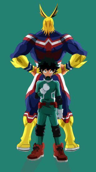 Anime My Hero Academia All Might Izuku Midoriya Wallpaper 691819 My Hero Academia My Hero Hero Wallpaper