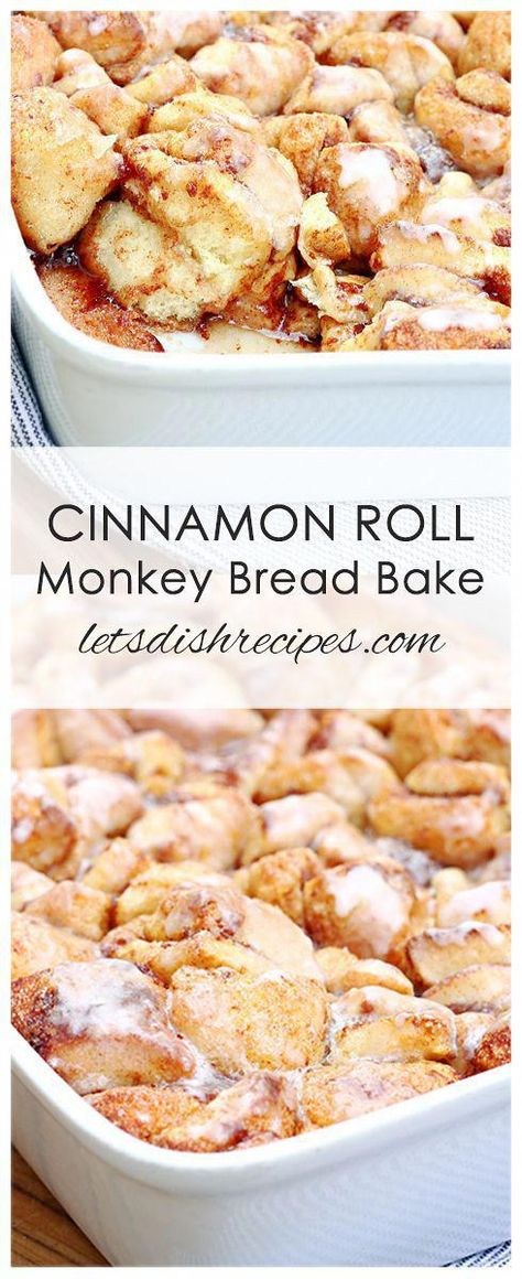 Cinnamon Roll Monkey Bread Bake Recipe: Prepared cinnamon roll dough makes this . - Cinnamon Roll Monkey Bread Bake Recipe: Prepared cinnamon roll dough makes this sweet breakfast casserole quick and easy to put together. Cinnamon Roll Monkey Bread, Cinnamon Roll Dough, Cinnamon Roll Casserole, Cinnamon Roll Recipes, Monkey Bread Easy, Quick Cinnamon Rolls, Easy Bread, Cream Cheese Monkey Bread, Cinnamon Roll Bread Pudding