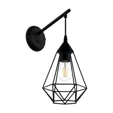 Kinkiet Byron Eglo Ceiling Light Fittings Eglo Black Wall Lights