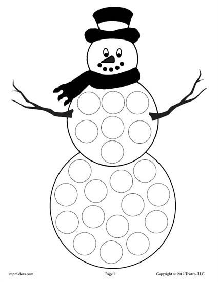 9 Winter Do-A-Dot Printables!  Winter crafts preschool