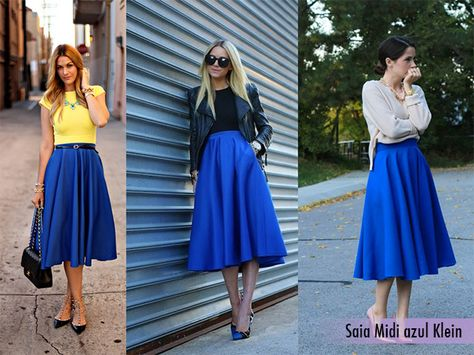Gray midi skirt - high-waisted tucked in, belted