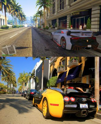 Gta V In Game Los Santos Vs Real Life Los Angeles Screenshot Comparison Shows Several Similarities Shows