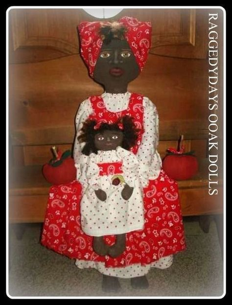 Mammy and twins Dumplinragamuffin PATTERN ONLY Primitive black doll,31 in