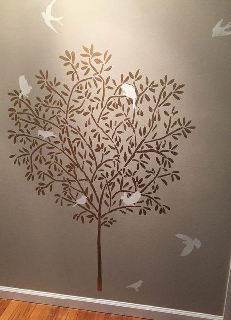 Tree Wall Stencil Olive Tree 5 Feet Tall Reusable Diy Home