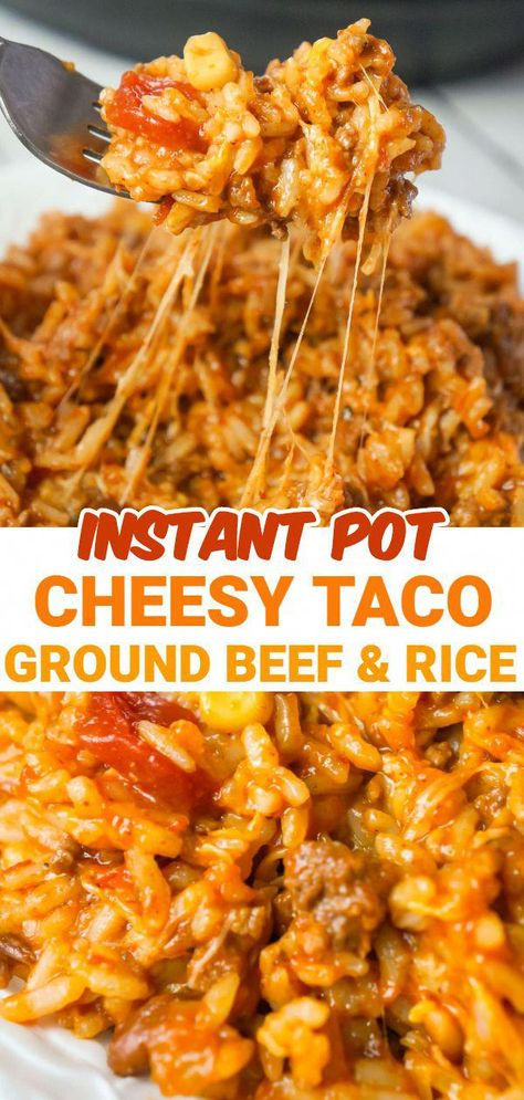 Ground Beef Rice, Dinner With Ground Beef, Beef Recipes For Dinner, Instant Pot Dinner Recipes, Cooking Recipes, Ground Chuck Recipes Dinners, Best Ground Beef Recipes, Instant Recipes, Kitchen Recipes
