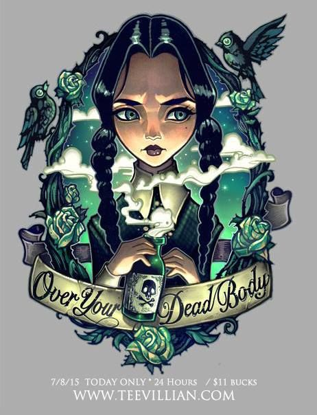 """""""Over Your Dead Body"""" Wednesday Addams by Tim Shumate (telegrafixs on DeviantArt)"""
