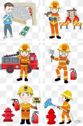 Fire Safety And Safety Escape In 2021 Fire Safety Fire Prevention Character Illustration