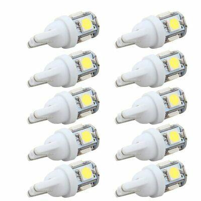 Ebay Advertisement 10pc T10 5smd 5050 Car Led Wedge Light Plate License 194 2825 168 W5w Bulb White T10 Led Car Led Lights Led