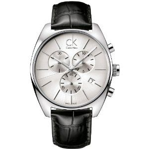 6b688b746c0 Calvin Klein Quartz Exchange Pig Skin Strap Grey Dial Men s Watch ...
