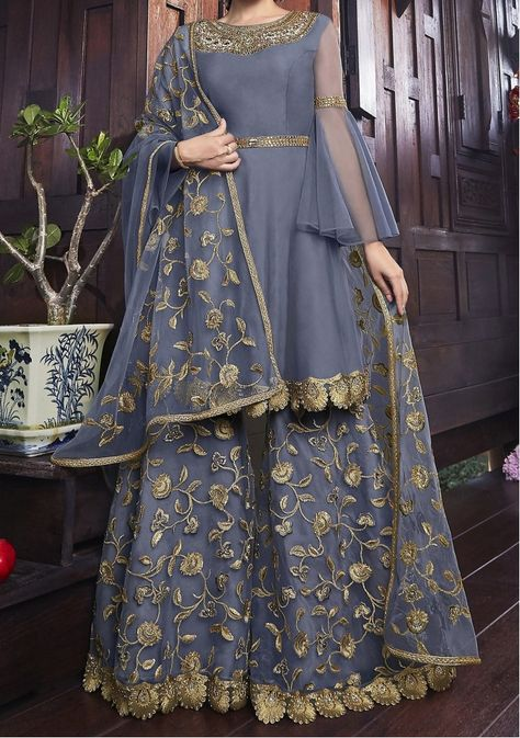 Swagat Snow White Designer Party Wear Palazzo Suit - in 2020