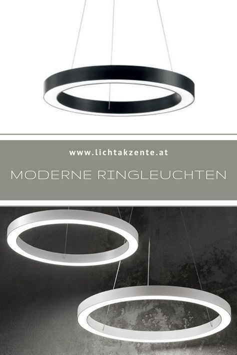 Ideal Lux Led Ring Pendelleuchte Oracle Round Schwarz Lampe