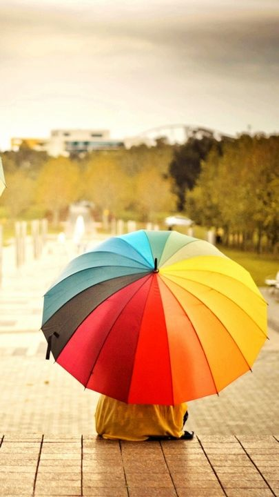 خلفيات ايفون 7 رمزيات Iphone 7 Plus Wallpapers Tecnologis Rainbow Wallpaper Colorful Umbrellas Infinity Wallpaper