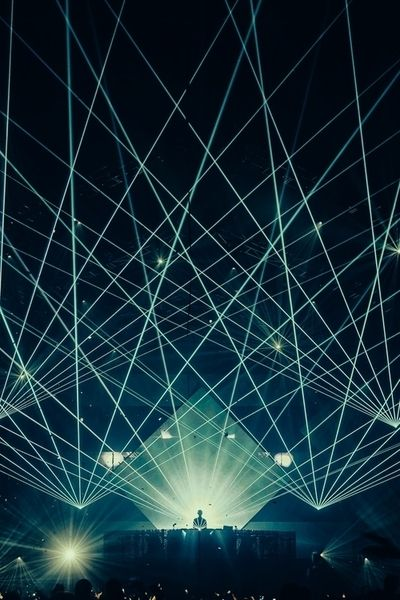 Laser lights music party lights show crowd concert triangles event