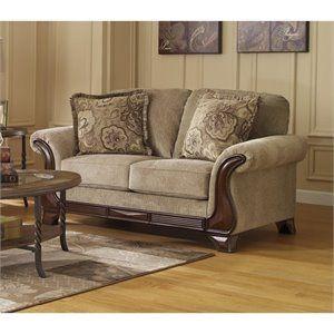 Ashley Furniture Lanett Fabric Sofa In Barley Furniture Home Furniture Love Seat