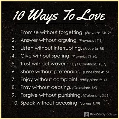 10 Ways to Love - Christian Inspirational Images