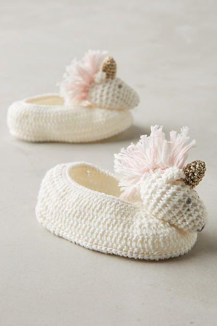 Crocheted Booties - anthropologie.com