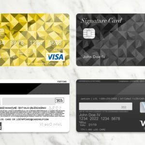Free Bank Card Credit Card Psd Template Donation Premium Versions Zamartz Credit Card Design Card Design Visa Credit Card