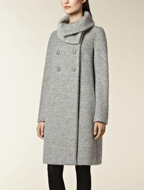 Acquista Donna Lana Miscele Cappotti Collo In Pelliccia Moda Inverno Cintura Soprabito Ufficio Donna Elegante Lusso Grigio Cammello Cappotto Outwear