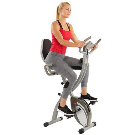 Sports Outdoors Recumbent Bike Workout Folding Exercise Bike