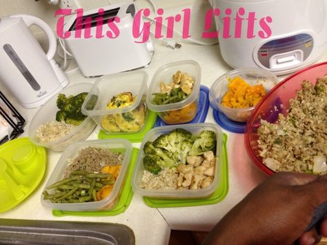 A great post about food prepping for the week. http://www.thisgirllifts.blogspot.com/2013/07/tips-to-prepping-weekly.html