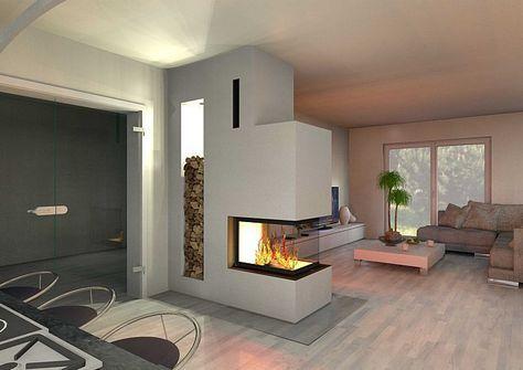 Große Fliesen machen ihr Wohnzimmer und die anderen Räume deutlich