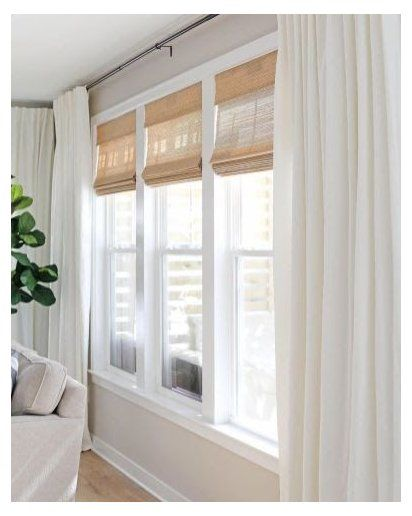 Jual Online Modern Window Treatments For Large Windows Unique Window Treatme Window Treatments Living Room Big Windows Living Room Large Windows Living Room