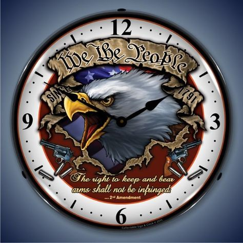 $119.95 Retro We the People Lighted Wall Clock
