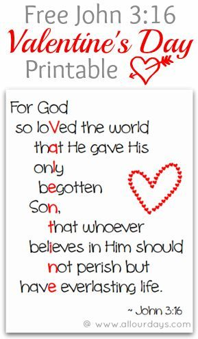 John 3 16 Valentine S Day Printable Allourdays Com