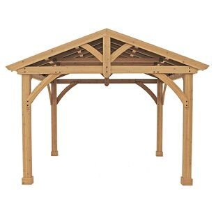 Riverstone Industries Corporation Acacia 12 Ft W X 12 Ft D Aluminum Patio Gazebo Wayfair Patio Gazebo Backyard Pavilion Wood Patio