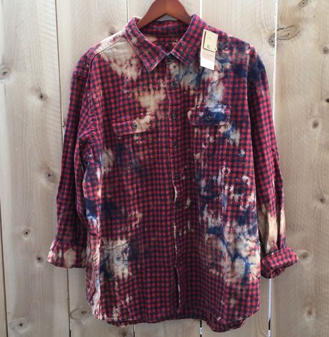 A personal favorite from my Etsy shop https://www.etsy.com/listing/259964159/xl-grunge-flannel-shirt-button-down