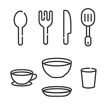 Knife And Fork Vector Illustration With Simple Line Design Suitable For Restaurant Icon Icon Restaurant Fork Png And Vector With Transparent Background For F Restaurant Icon Vector Illustration Line Design