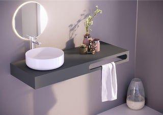 Vasque A Poser Porcelaine L 37 X P 9 5 Cm Diam 36 Cm Blanc Vasque A Poser Vasque Plan Vasque