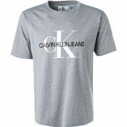 Calvin Klein Jeans Herren T Shirts Baumwolle Steingrau Calvin Kleincalvin Klein In 2020 Calvin Klein Mens Graphic Tshirt Klein