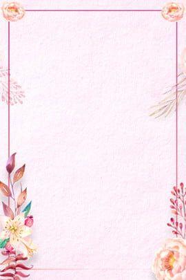 Brief Art Flower Poster Background In 2020 Pink Posters Flower Background Wallpaper Pink Flowers