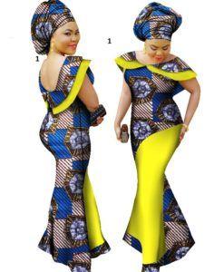 a079a35186 Ankara African dress Plus Size winter dresses women traditional ...