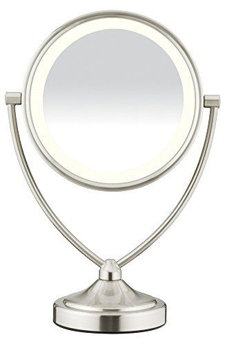 Conair Natural Daylight Double Sided Lighted Makeup Mirror Review With Images Makeup Mirror With Lights Makeup Mirror Makeup Vanity