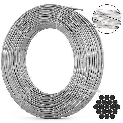 Ad Ebay 1 8 1x19 Stainless Steel Cable Wire Rope Indoor Heat Resistance Anti Corrosion In 2020 Stainless Steel Cable Stainless Steel Wire Things To Sell