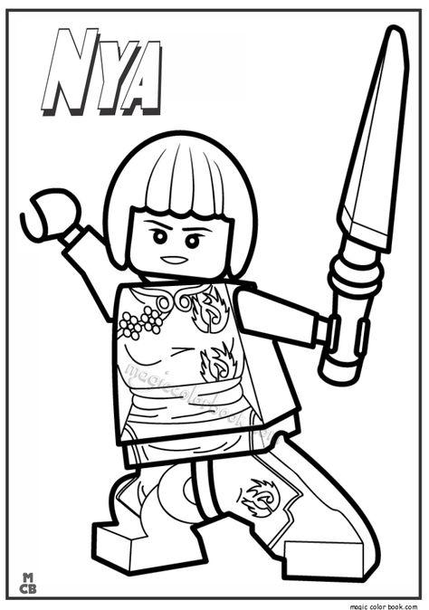 Ninjago Lego Coloring Pages Nya Lego Coloring Ninjago Coloring