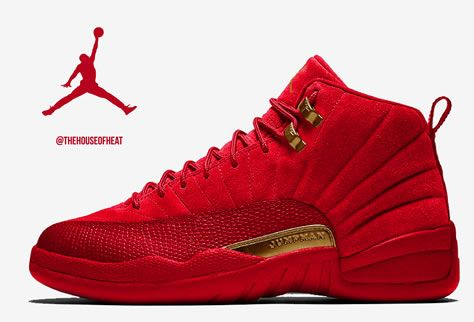 red suede jordans 12