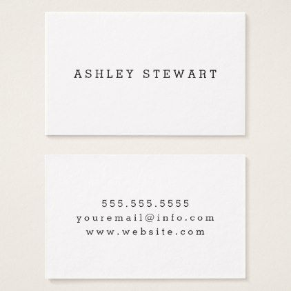 Basic Business Card Zazzle Com Business Cards Simple Business Cards Diy Custom