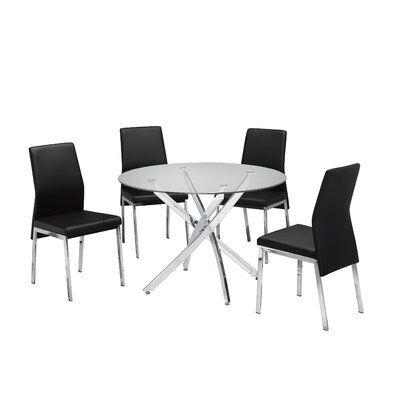 Meredith 5 Piece Dining Set Brassex In 2020 Kitchen Dining Sets 5 Piece Dining Set Dining Room Sets
