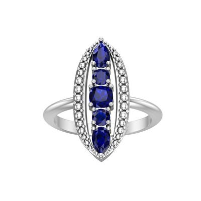 Jewelry Created Blue Sapphire Ring In 10k White Gold With Images Womens Jewelry Rings Blue Sapphire Rings Sapphire Ring