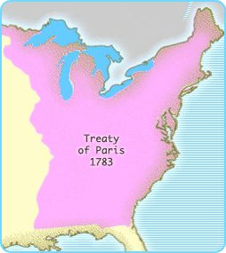Treaty Of Paris On Pinterest Us Colonies Us History Org And - Us territory map the original addition of 1783