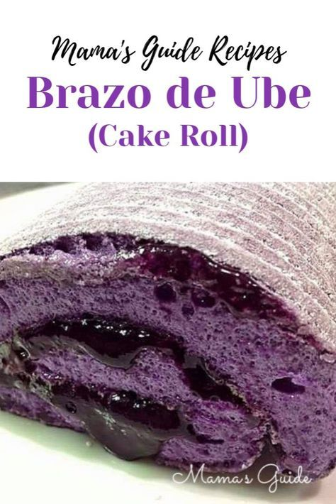 Your Favorite Brazo De Mercedez Cake Roll Is Now In Ube Flavor Still The Same Goodness Of Meringue Rolled Int Cake Roll Cake Roll Recipes Ube Roll Cake Recipe