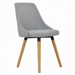 Malmo Dining Chair Light Grey Fabric Gray Dining Chairs