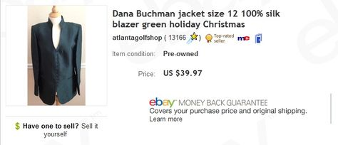 Dana Buchman Jacket 1 At Thrift Store Sold For 39 97 Selling
