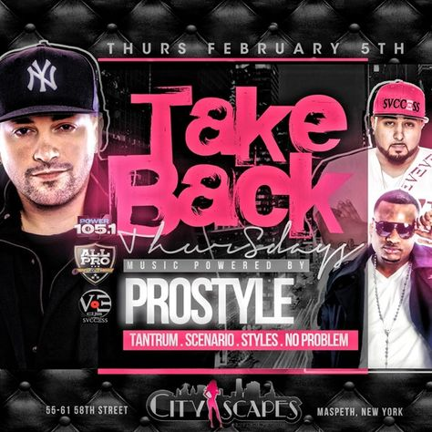 Take Back Thursday @ CityScapes Thursday February 5, 2015 « Bomb Parties – Club Events and Parties – NYC Nightlife Promotions