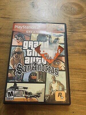 "Grand Theft Auto: San Andreas ""M"" Version (Sony PlayStation 2, 2005) 710425278884   eBay"