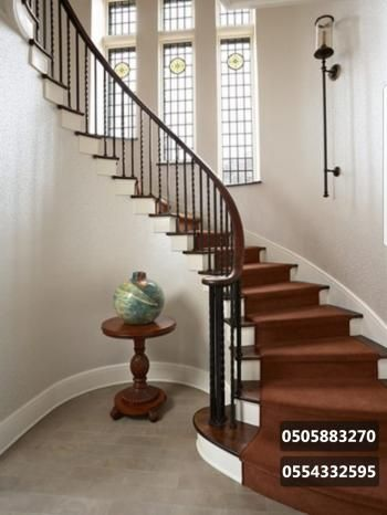 درج حديد خارجي وداخلي In 2021 Staircase Design Modern Stairs Design Staircase Design